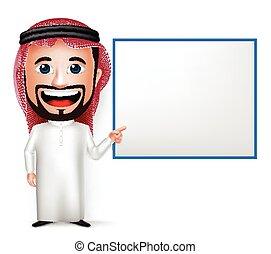 Saudi Arab Man Cartoon Character - 3D Realistic Saudi Arab ...