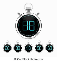 3d realistic stopwatch vector