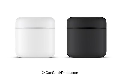 3d realistic template for cosmetic product container
