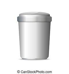 3d realistic trashcan. Trash can garbage