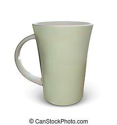 3d realistic vector cup