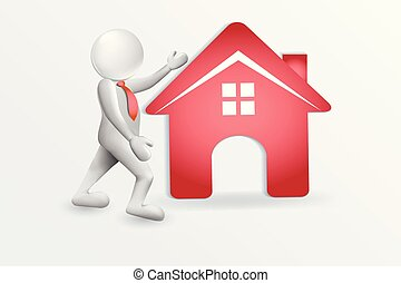 Realtor And Red House Logo Vector