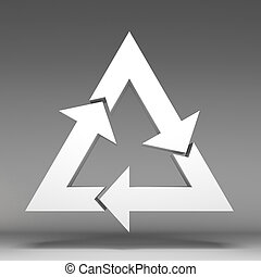 3d recycle icon