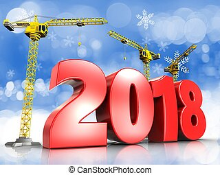 3d red 2018 year