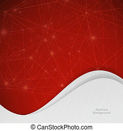 3D red Abstract Mesh Background with Circles