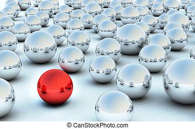 3D red ball highlight