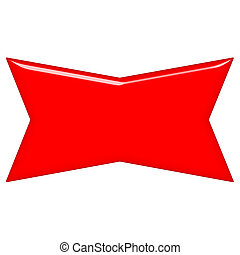 3D Red Banner