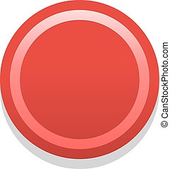 Quick and easy recolorable shape isolated on background. Red empty icon in flat style. Colored satin, simple, soft circle button with dark shadow. Vector illustration a graphic element for design