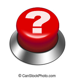 3d red button with question mark