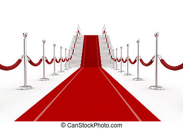 3d red carpet illustration