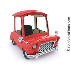 3d Red cartoon car