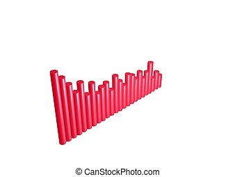 3D - Red chart