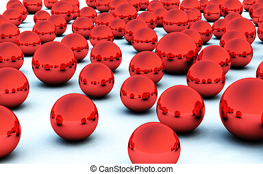 3D red christmas ball