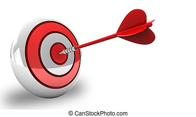 3d red dart