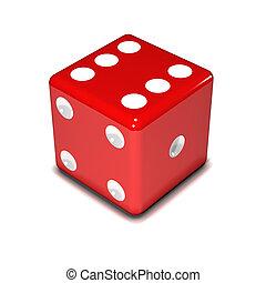3d Red dice