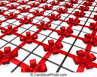3d red gift