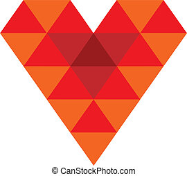 3D red heart vector icon isolated