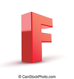 3d red letter F