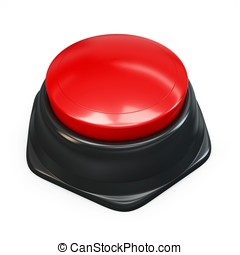 3d red plastic button