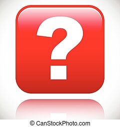 3D red question mark graphics for related concepts. Problem...