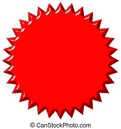 3D Red Seal - 3d red seal isolated in white