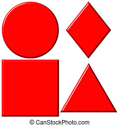3D Red Shapes