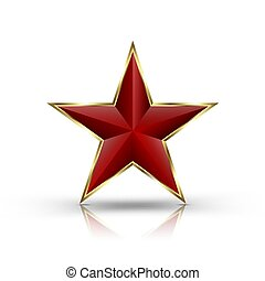 3D red star.