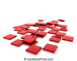 3d red structure