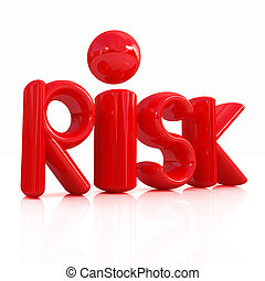 """3d red text """"risk"""""""