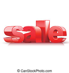 3d red text sale