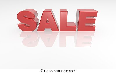 3d red text sale font