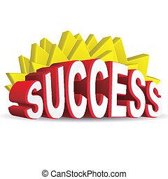 3d red text SUCCESS