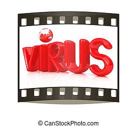 "3d red text ""virus"""