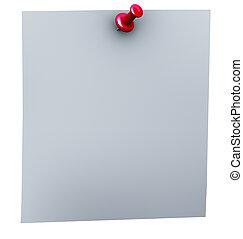 3d red thumbtack