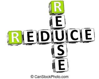 3D Reduce Reuse Crossword