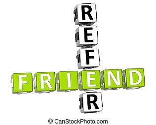 3D Refer a Friend Crossword