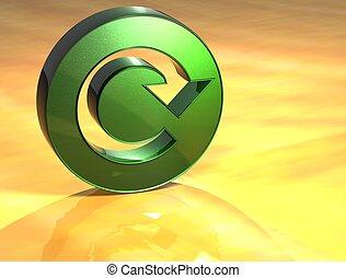 3D Refresh Green Sign