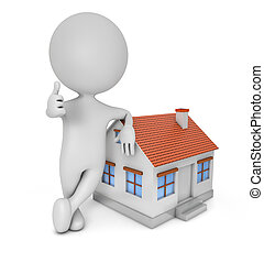 3d, reizend, leute, -, real estate