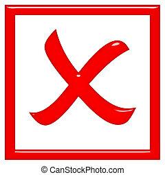 3d rejected sign