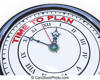 3d, reloj, -, tiempo, al plan