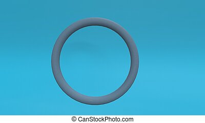 3d render Abstract cycle on blue background