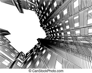 abstract modern architecture background