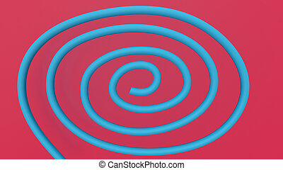 3d render Abstract multi-colored objects minimalist background