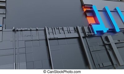 3d render Abstract Technology Background With Cubes