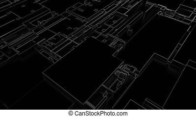 3d render Abstract Technology Background With Lines