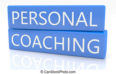 Personal Coaching - 3d render blue box with text Personal ...