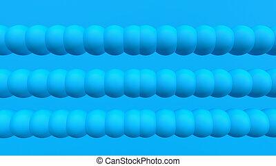 3d render blue sphere background. 3d objects geometric shape