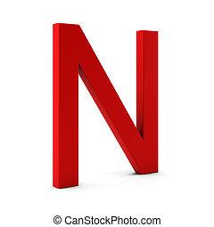 3d, render, de, rojo, carta, aislado, blanco