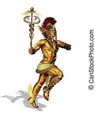 Greek God Mercury - 3D render depicting the Greek God...