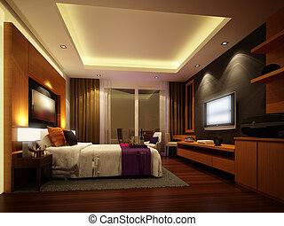 3d render design of interior